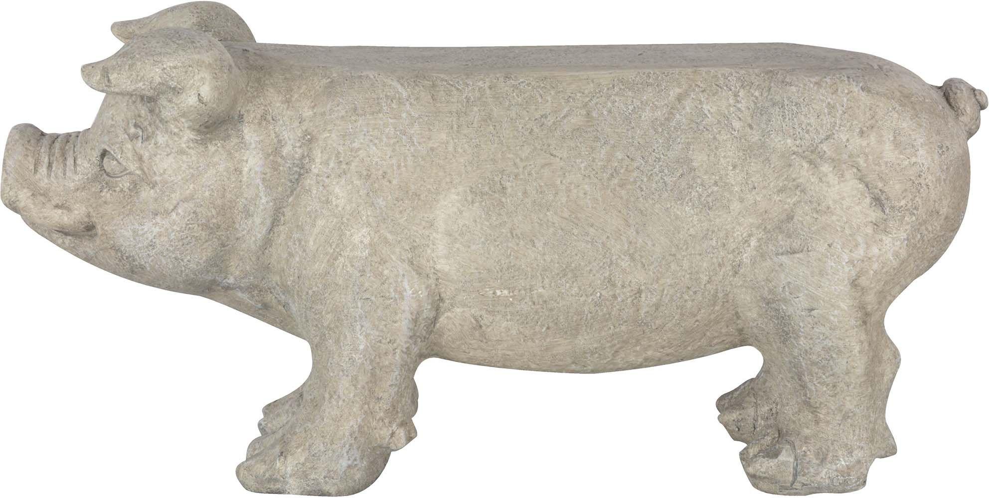 Banc de jardin cochon en pierre for Banc de jardin en pierre