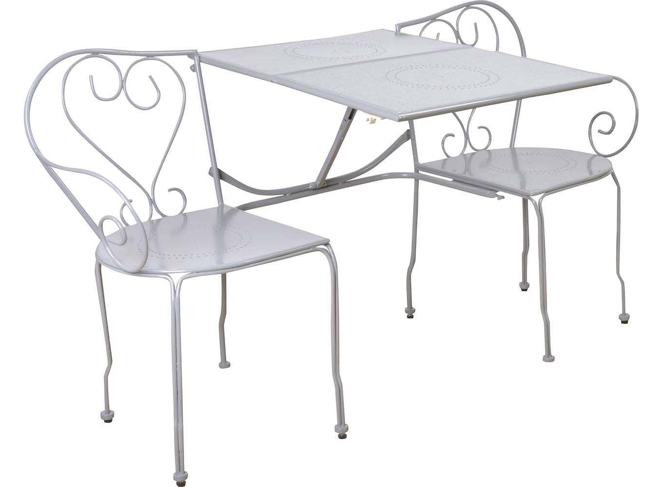 banc de jardin convertible en table chaises classique gris. Black Bedroom Furniture Sets. Home Design Ideas