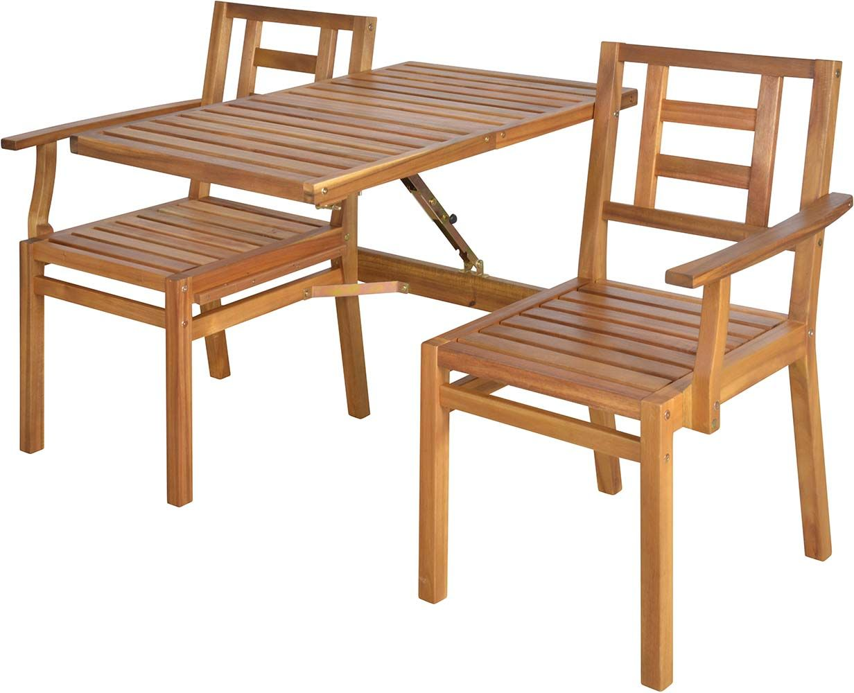Banc de jardin convertible en table chaises en bois for Table chaise bois