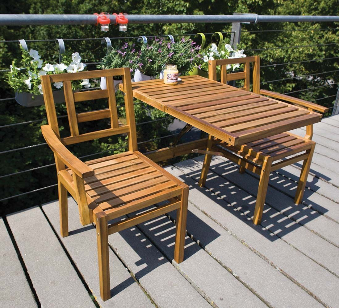 Banc de jardin convertible en table chaises en bois for Banc de table en bois