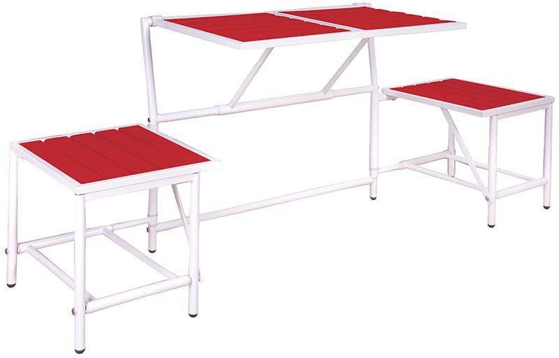 banc 2 places convertible en tables et tabourets. Black Bedroom Furniture Sets. Home Design Ideas