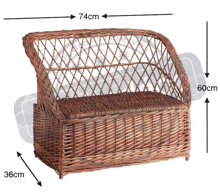 banquette coffre osier pour enfant. Black Bedroom Furniture Sets. Home Design Ideas