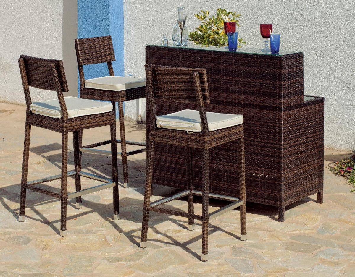 bar de jardin avec tabourets maritim. Black Bedroom Furniture Sets. Home Design Ideas