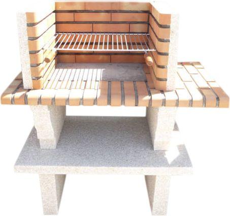 barbecue en pierre reconstitu e et brique. Black Bedroom Furniture Sets. Home Design Ideas