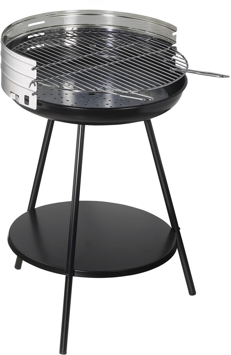 barbecue charbon rond en inox new clasic. Black Bedroom Furniture Sets. Home Design Ideas
