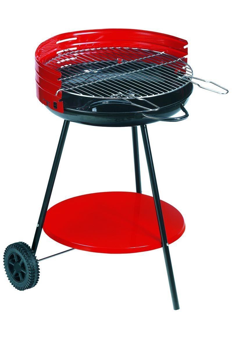 Barbecue à charbon sur roulettes camping surface cuisson