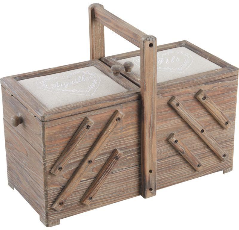 Bo te couture bois de fil en aiguille for Boite en bois a decorer pas cher