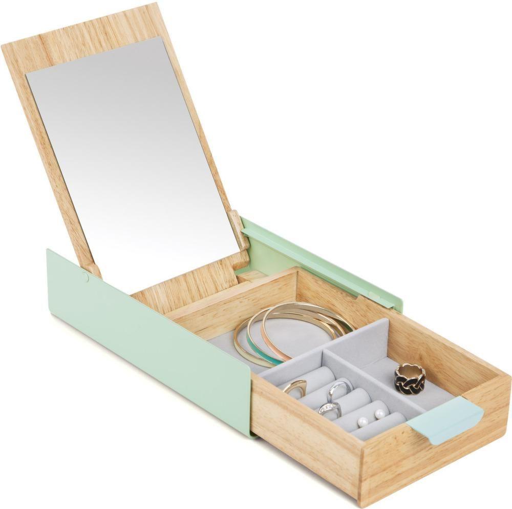 boite bijoux avec miroir reflexion. Black Bedroom Furniture Sets. Home Design Ideas