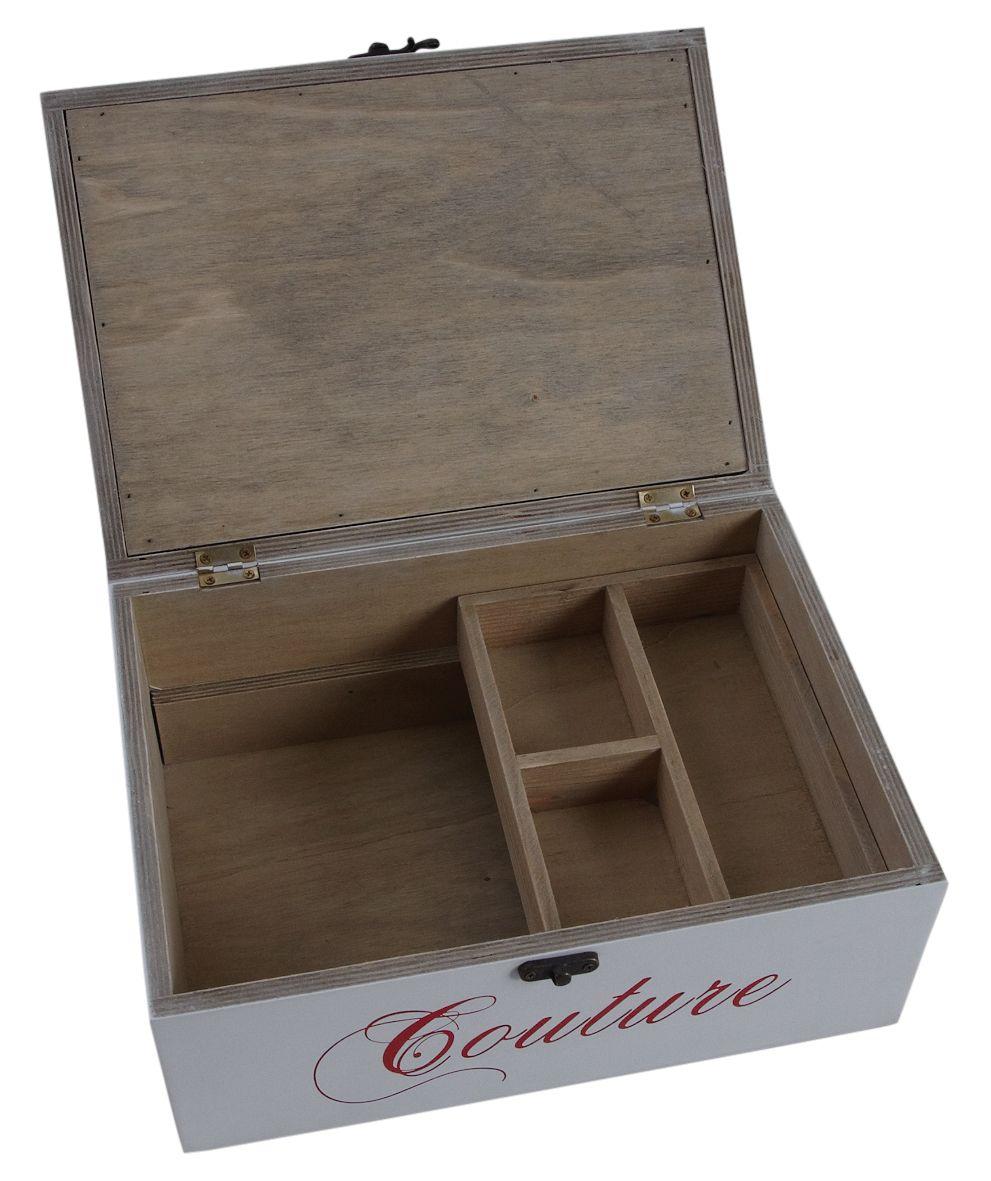 Boite couture en bois laqu for Boite a couture en bois