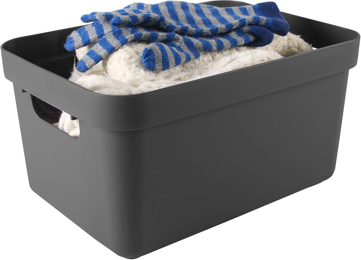 boite de rangement sigma home box 24l gris. Black Bedroom Furniture Sets. Home Design Ideas