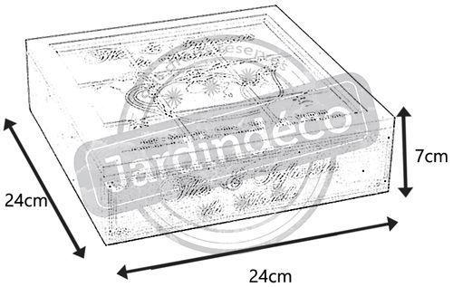 boite th en bois compartiment e. Black Bedroom Furniture Sets. Home Design Ideas
