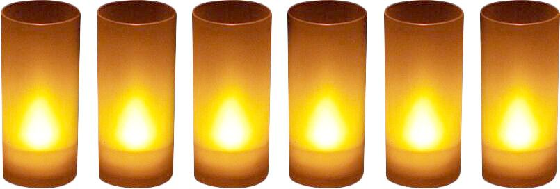 6 Bougies Led souffle (Jaune) by Zen light