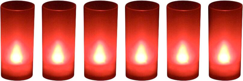 6 Bougies Led souffle (Rouge) by Zen light