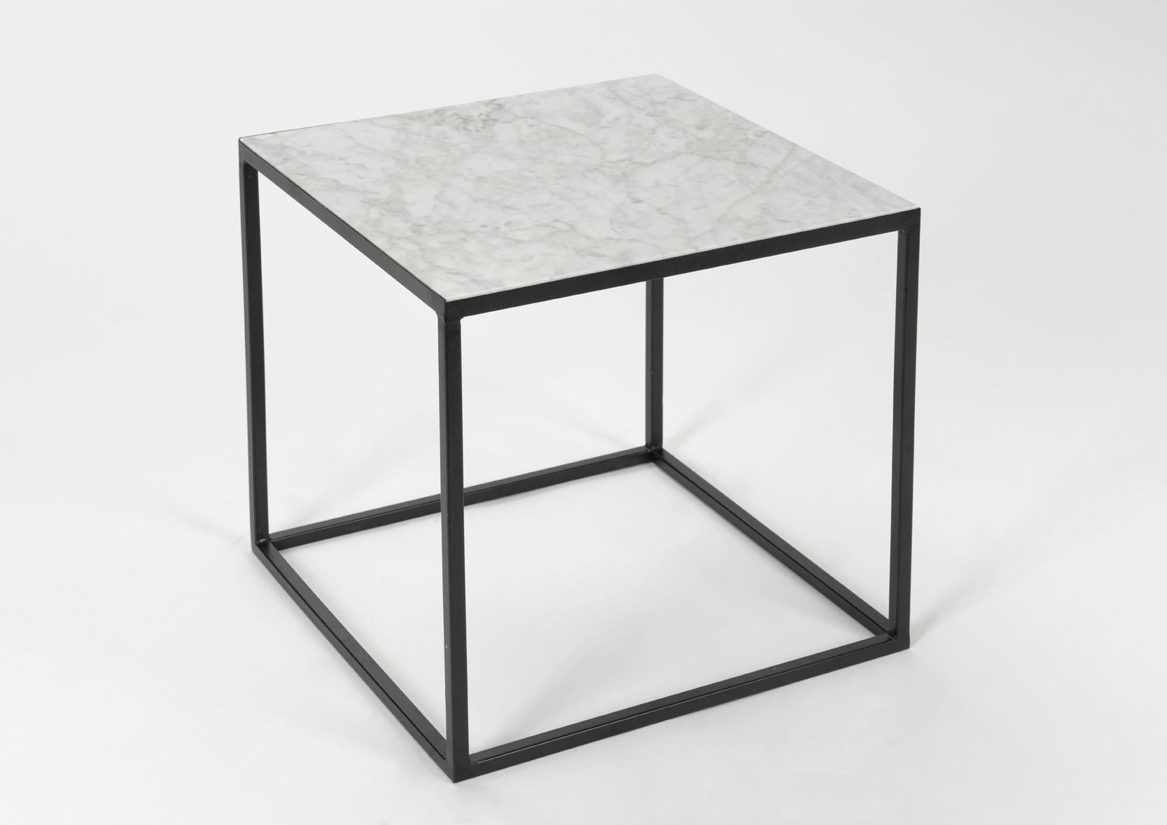 bout de canap cube en marbre. Black Bedroom Furniture Sets. Home Design Ideas