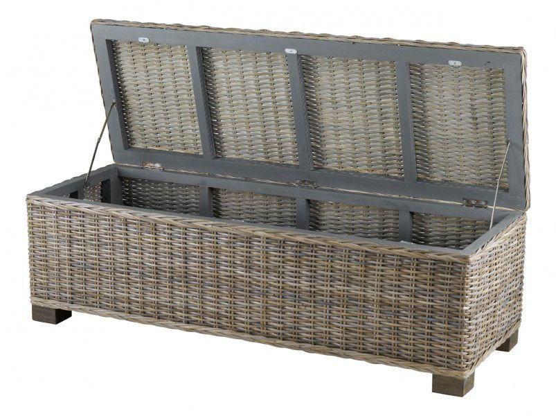 bout de lit coffre kubu. Black Bedroom Furniture Sets. Home Design Ideas