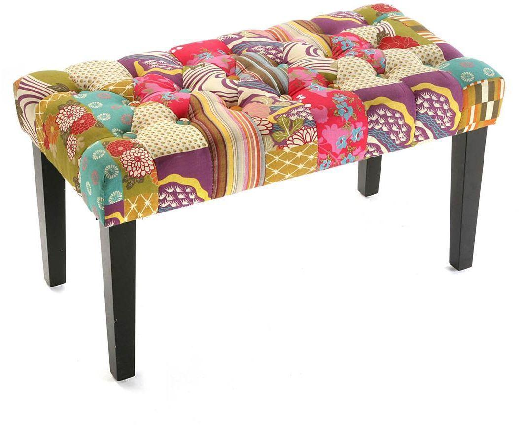 Bout de lit patchwork boh me - Table bout de lit ...