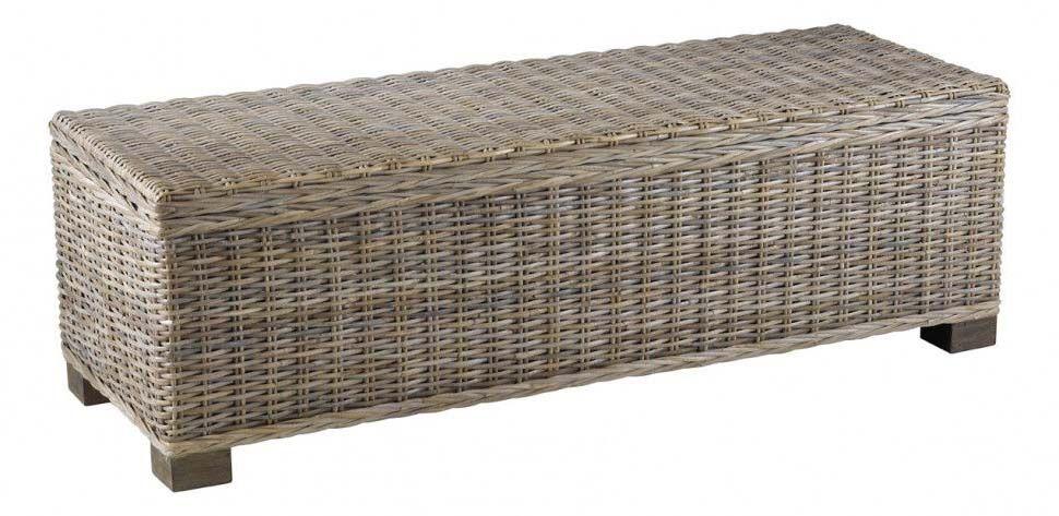 lit kubu good banquette bout de lit coffre en tissu gris. Black Bedroom Furniture Sets. Home Design Ideas