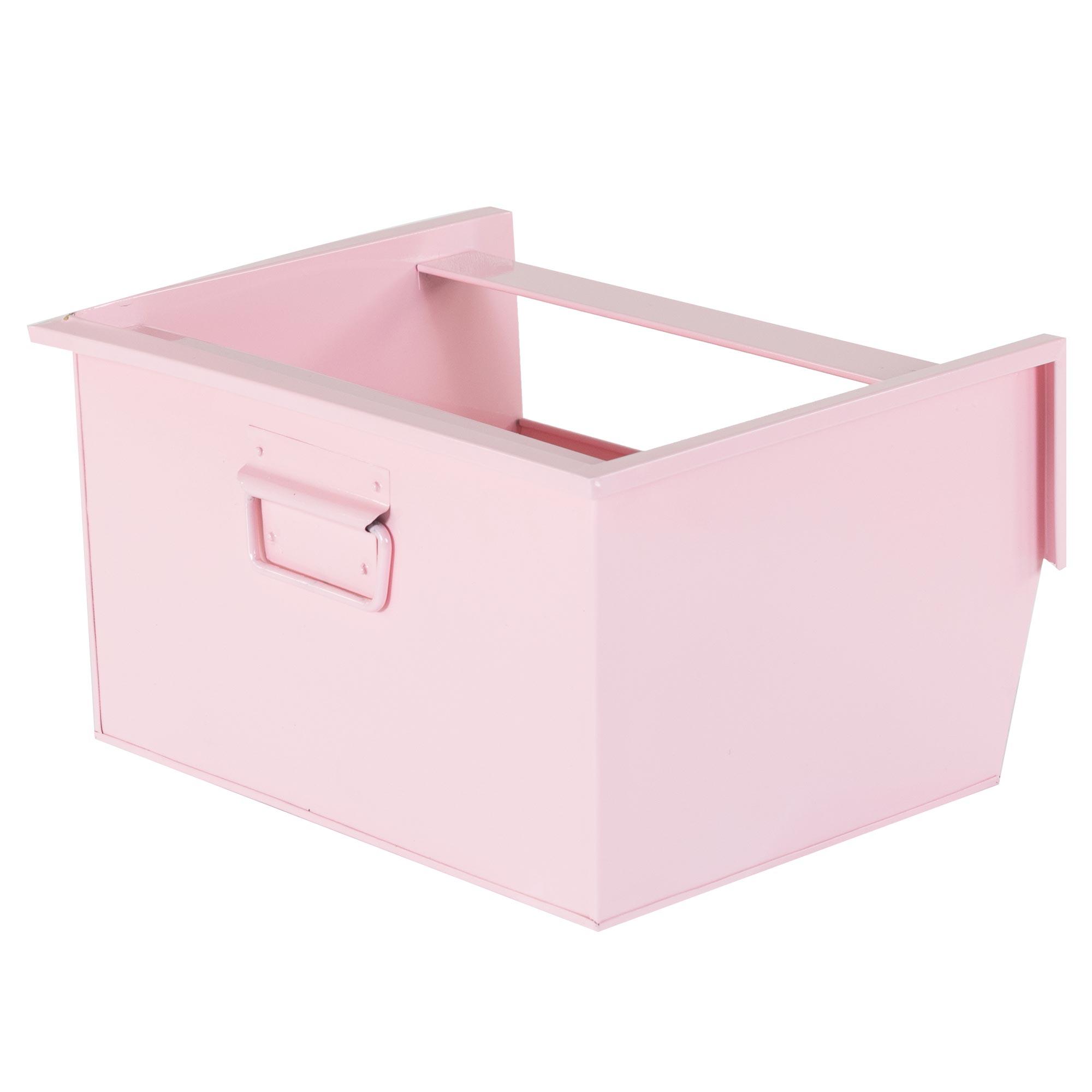box de rangement an acier viny lot de 3 rose. Black Bedroom Furniture Sets. Home Design Ideas