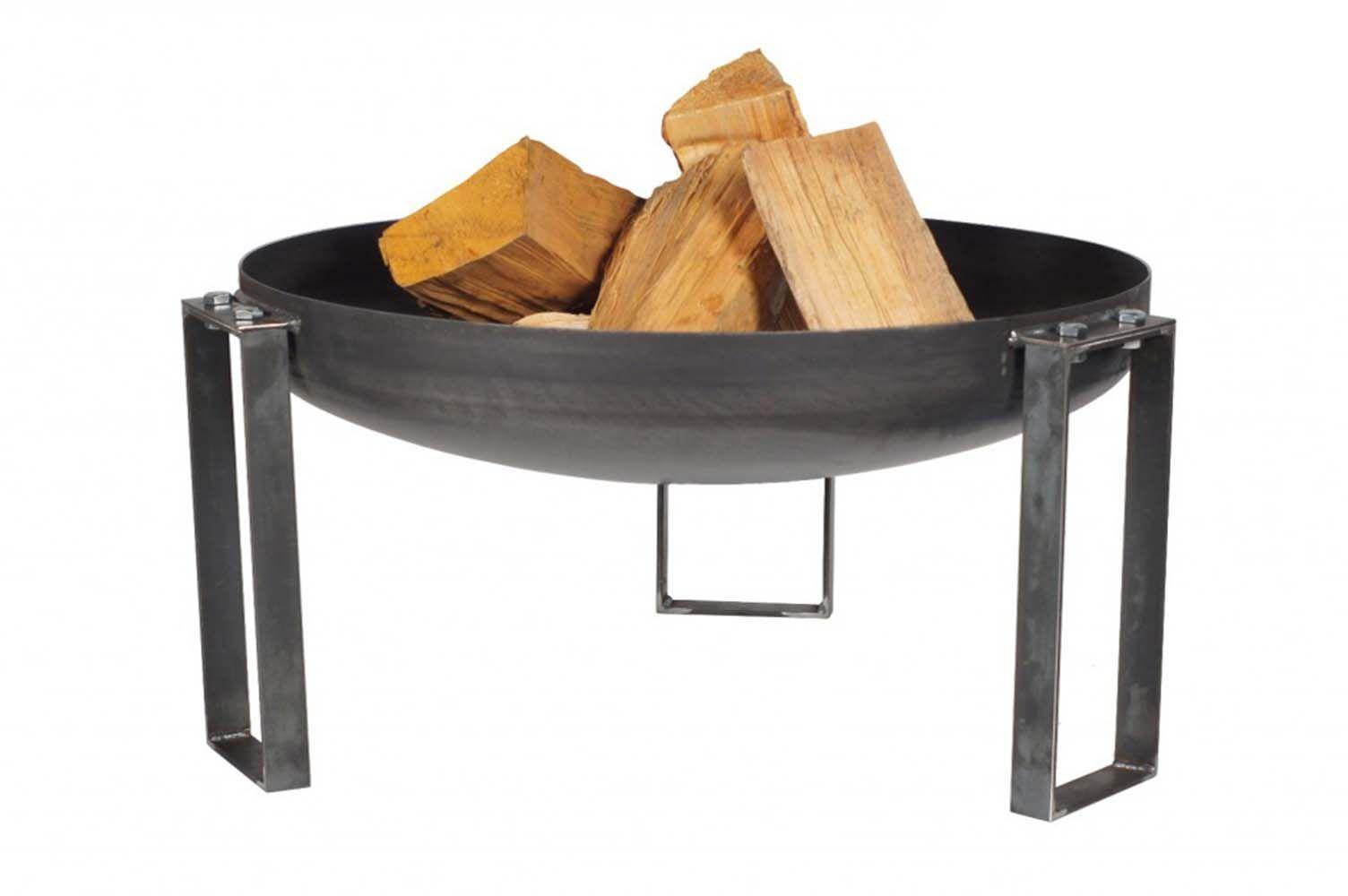 brasero en acier rond pieds design 80 cm. Black Bedroom Furniture Sets. Home Design Ideas