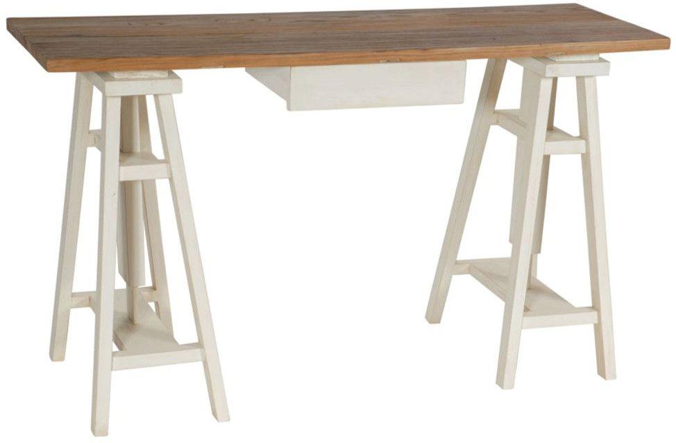 Bureau d 39 artiste r glable en bois for Plateau bureau bois blanc