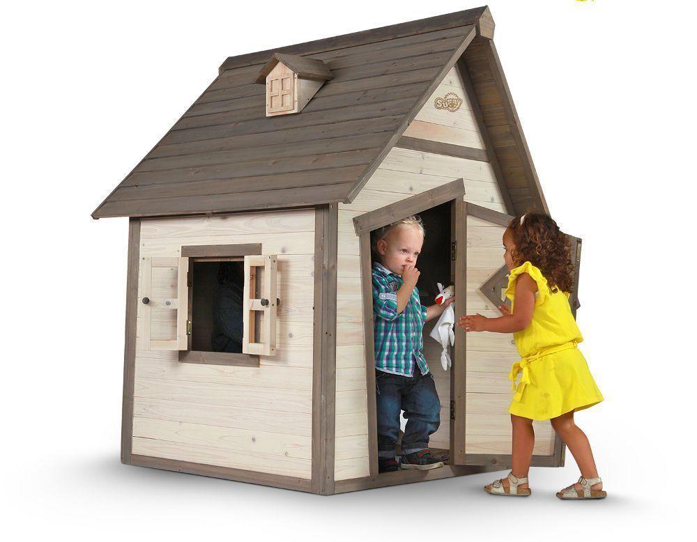 Maisonnette enfant sunny cabin en c�dre 94x102x159cm