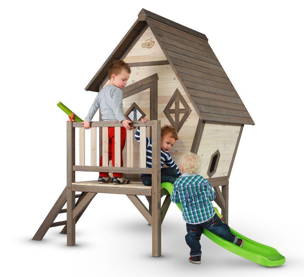 Maisonnette enfant sunny cabin xl en c�dre 260x167x215cm
