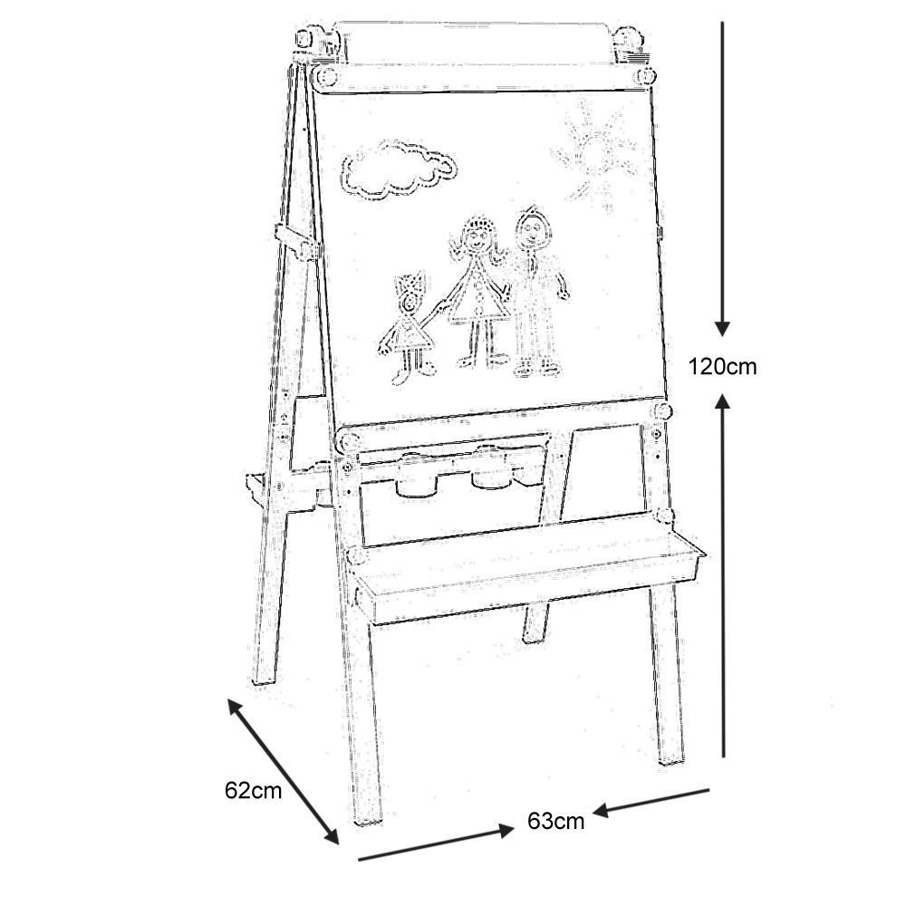 chevalet de dessin en bois pour enfant avec rouleau papier 1. Black Bedroom Furniture Sets. Home Design Ideas