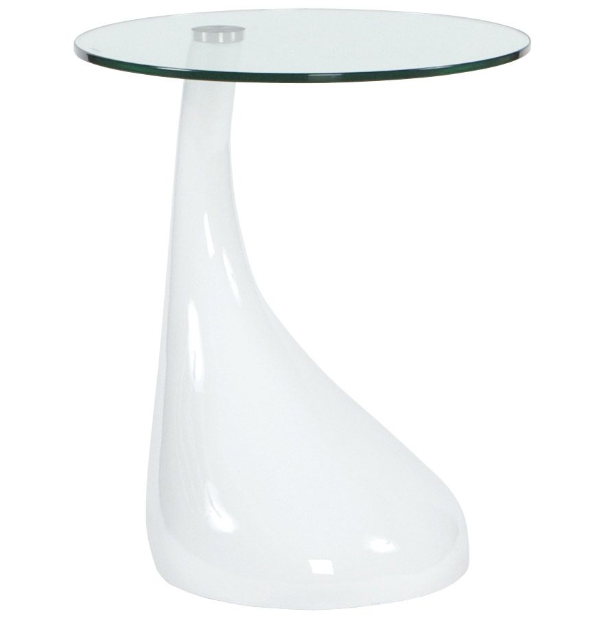 Table basse droplet blanche 45x54cm