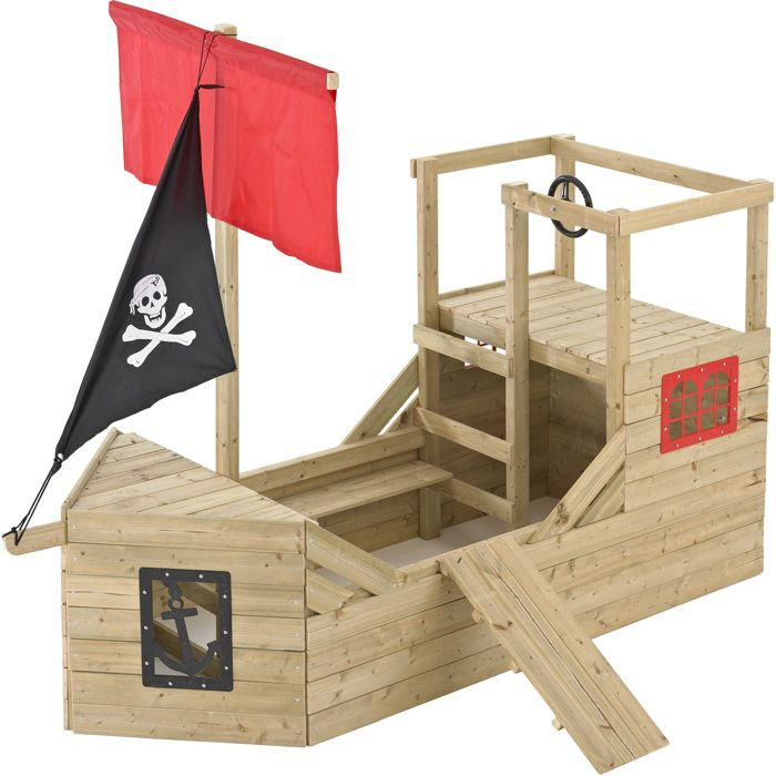 cabane bateau pirate galleon en bois. Black Bedroom Furniture Sets. Home Design Ideas