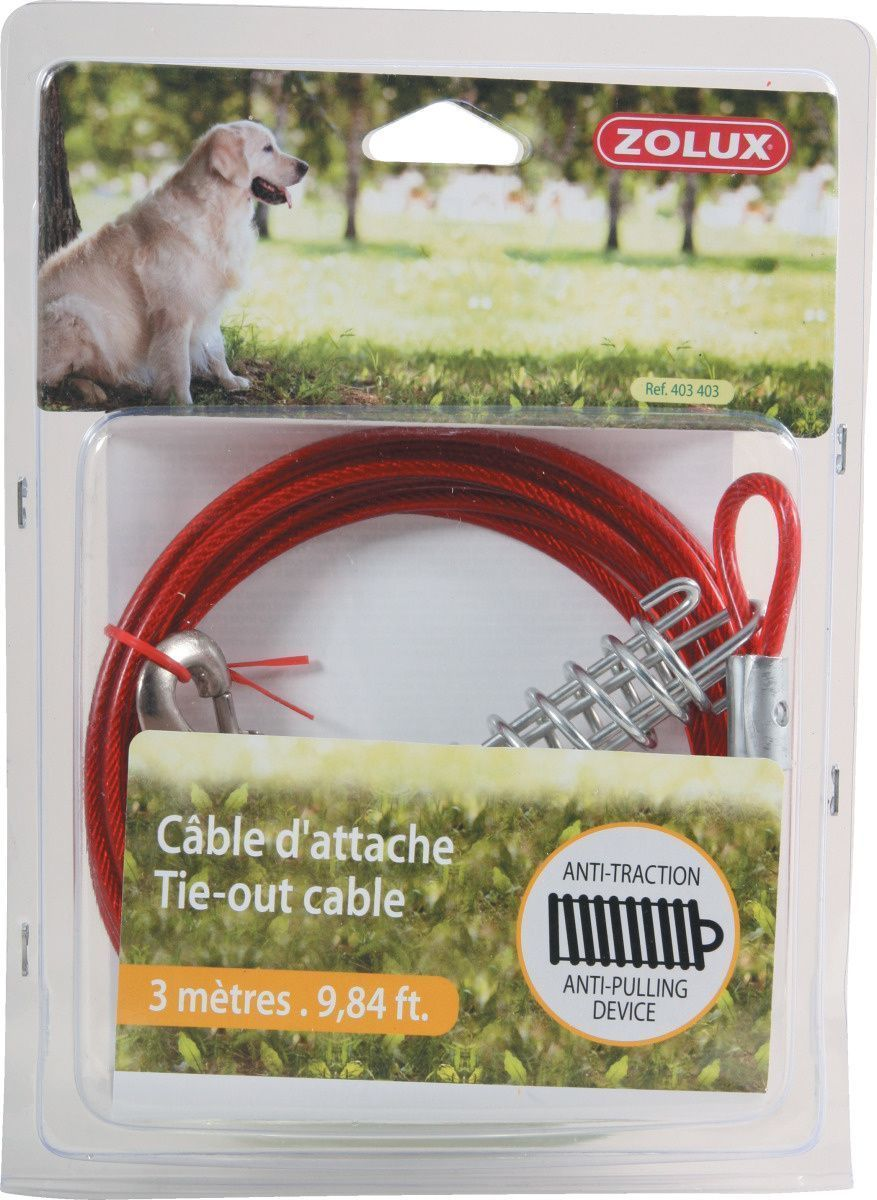 Cable d'attache avec ressorts anti traction by Zolux
