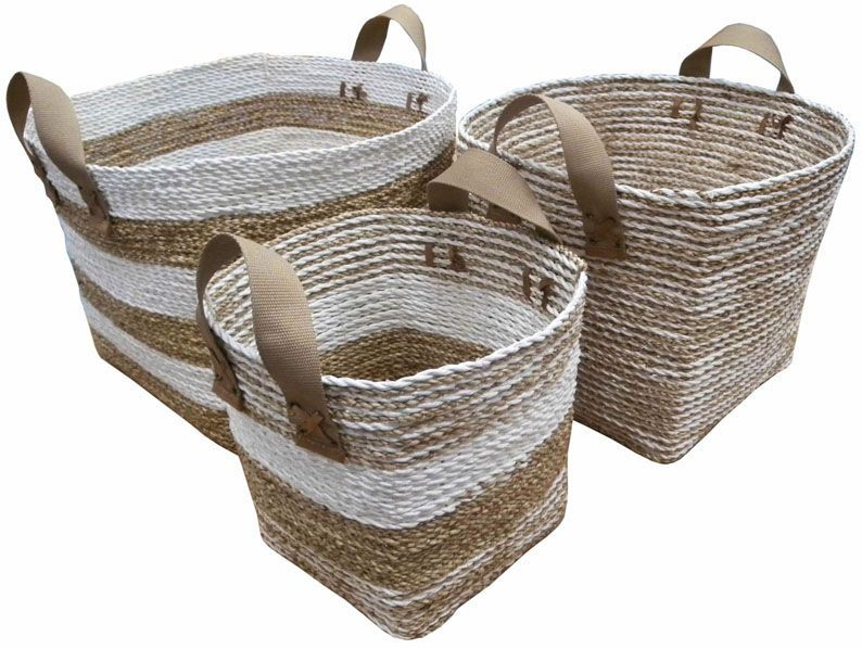 image_Cache-pot en corde et nylon (Lot de 3)