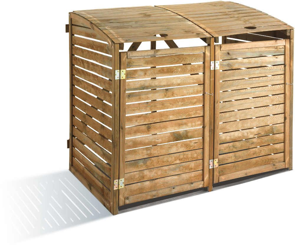 rangement du jardin poubelle cache container. Black Bedroom Furniture Sets. Home Design Ideas