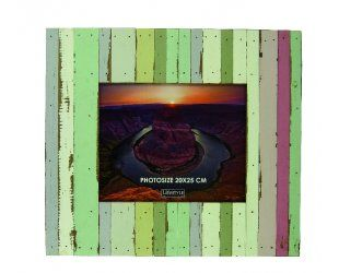 Cadre Photo Beach en Bois Multicolore