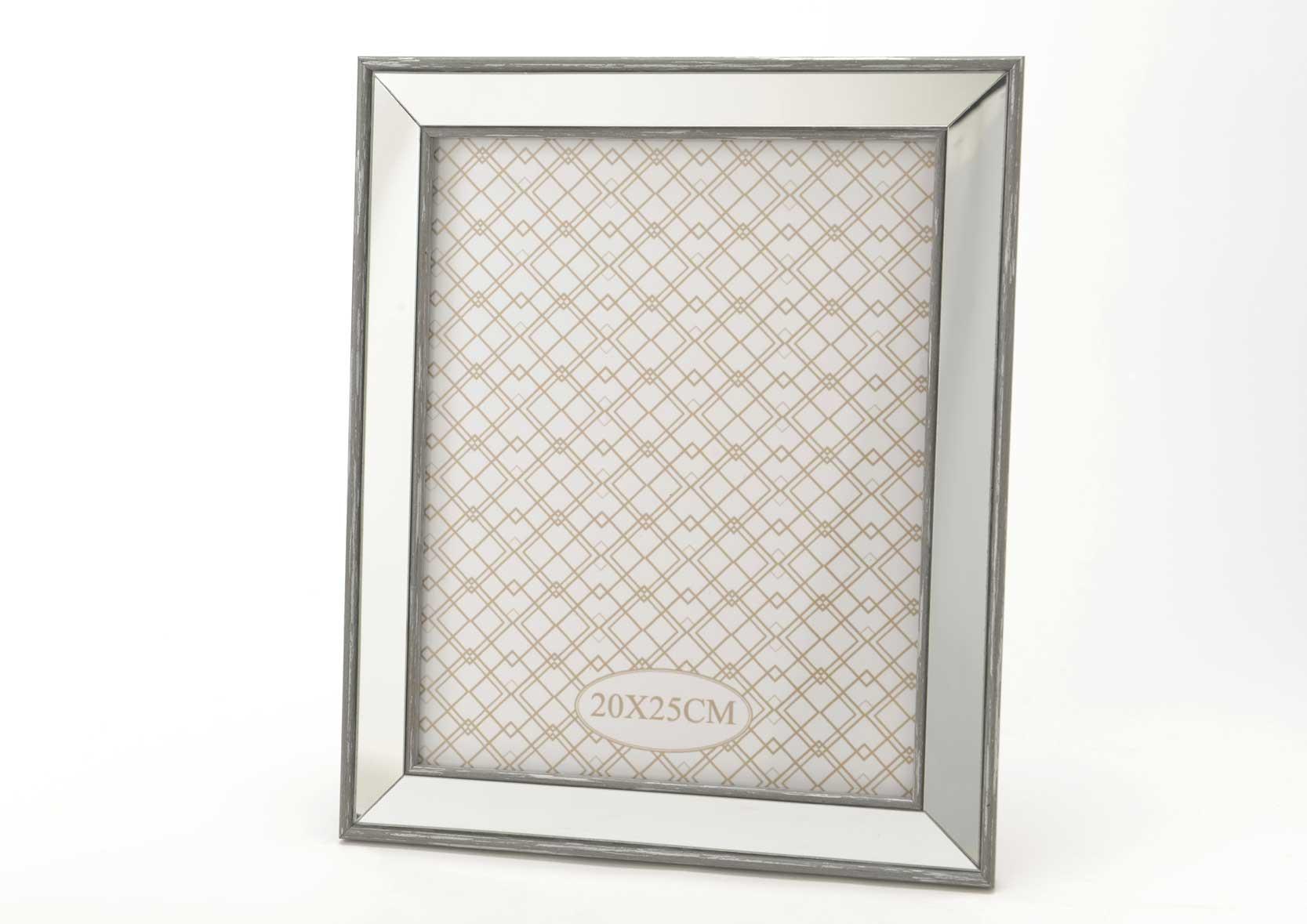 Cadre photo miroir gris for Miroir cadre