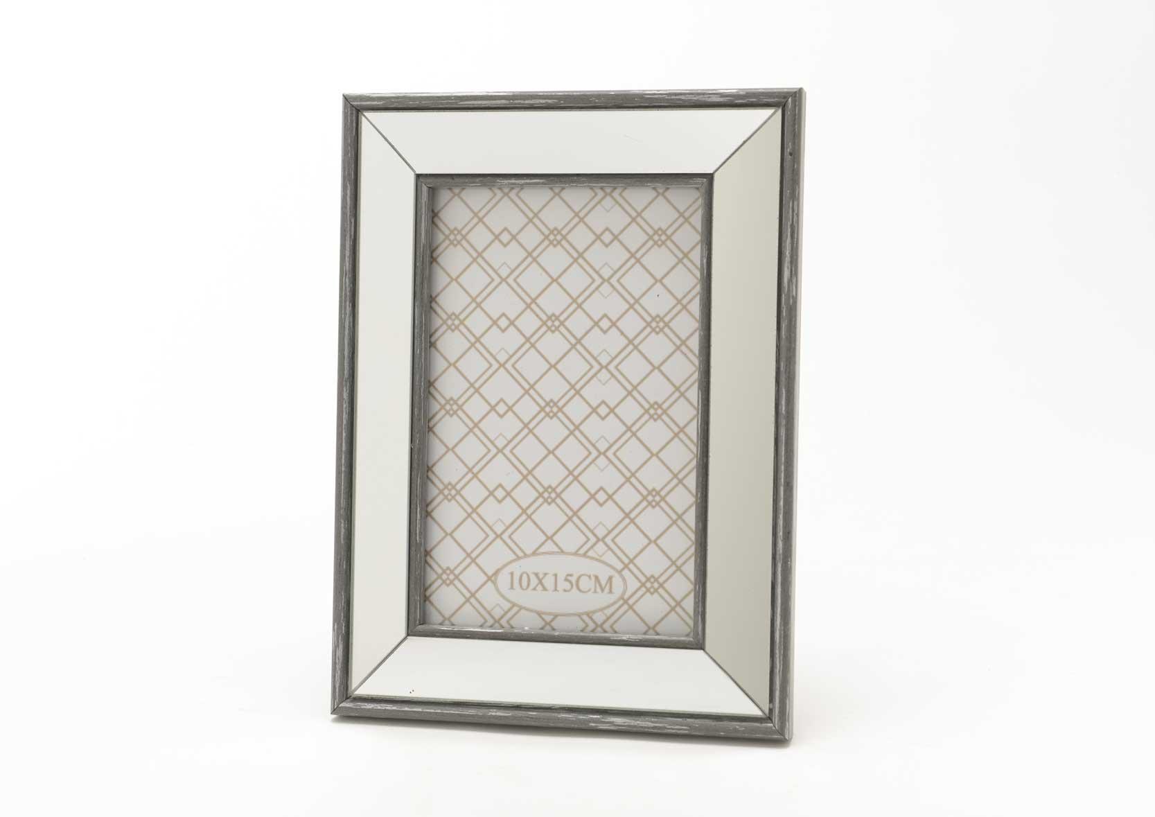Cadre photo miroir for Miroir cadre blanc