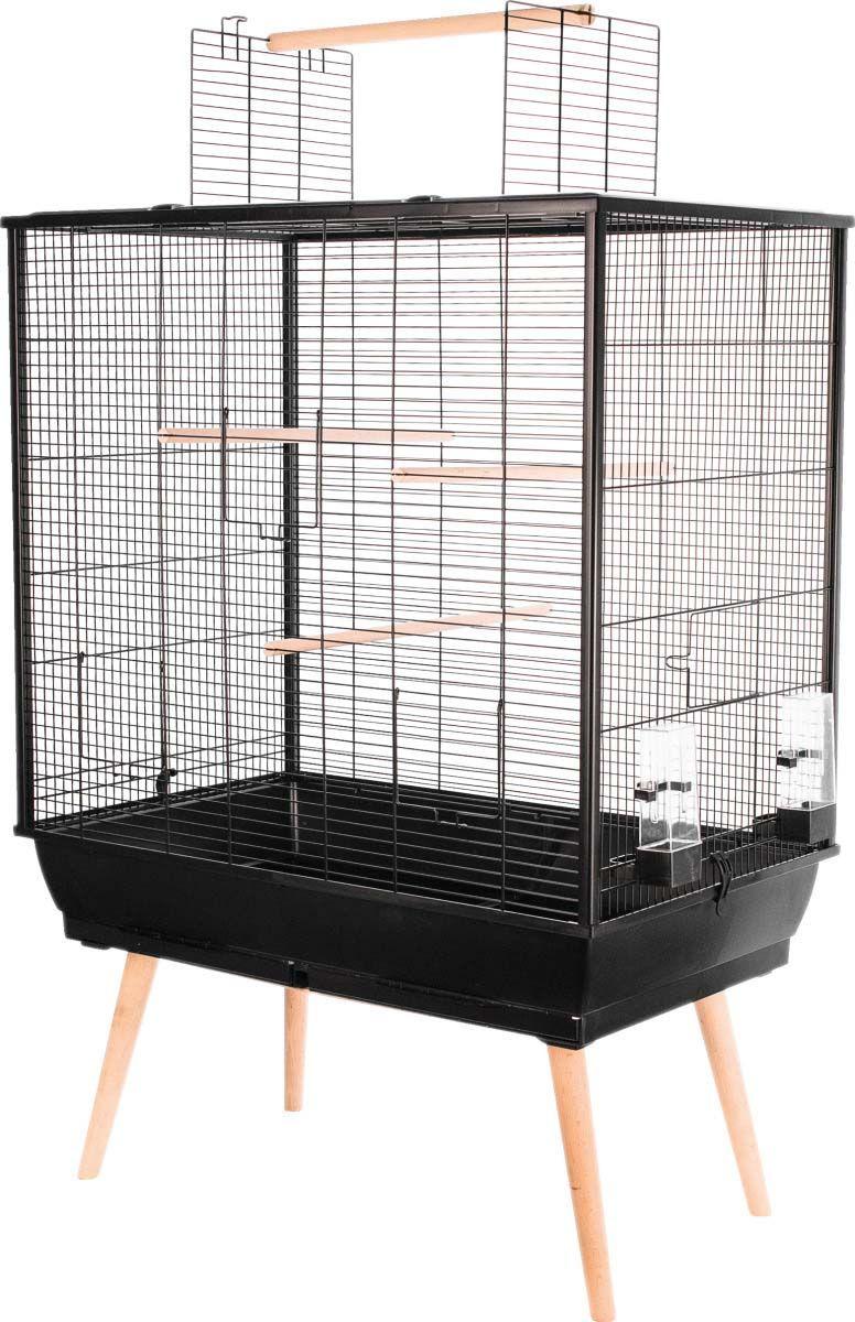 cage neo jill pour oiseaux domestiques sur pieds noir. Black Bedroom Furniture Sets. Home Design Ideas