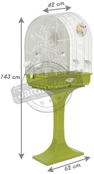 cage arabesque anna 60 cm avec pied olive. Black Bedroom Furniture Sets. Home Design Ideas