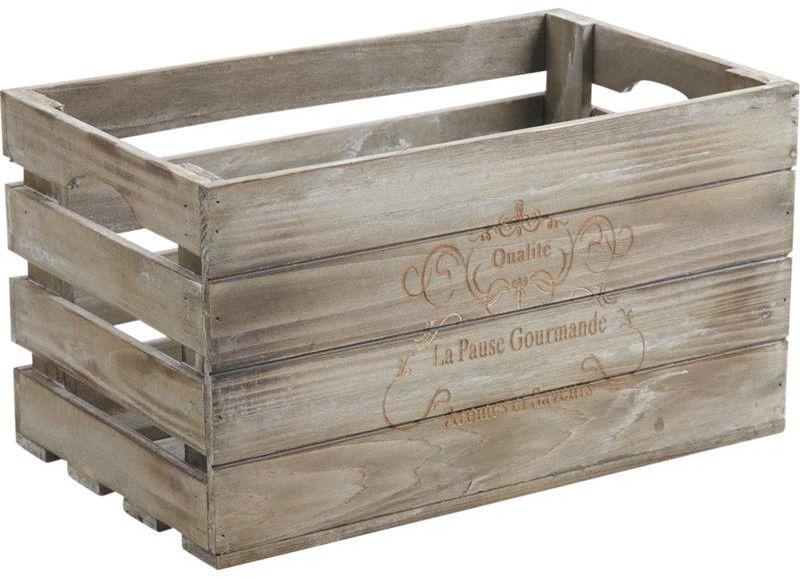 caisse en bois pause gourmande. Black Bedroom Furniture Sets. Home Design Ideas