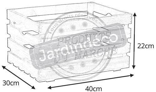 Caisse en bois produits du march - Recuperation caisse vin bois ...