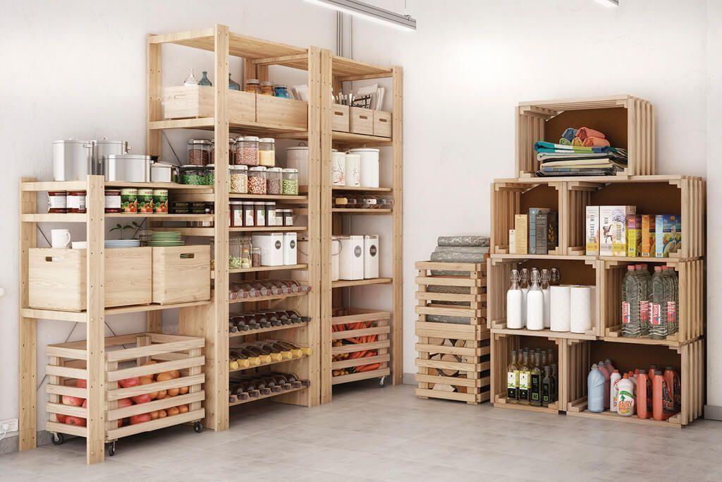 caisse en bois de rangement. Black Bedroom Furniture Sets. Home Design Ideas
