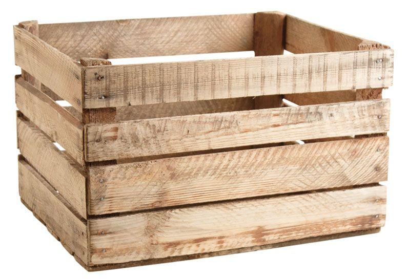 Caisse en bois rustique - Decoration caisse en bois ...