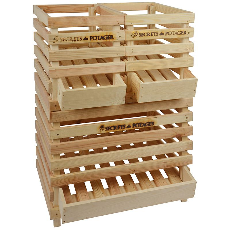 caisse pommes de terre en bois. Black Bedroom Furniture Sets. Home Design Ideas