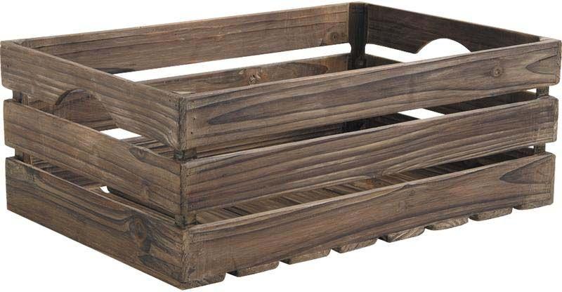 caisses en bois vieilli lot de 3. Black Bedroom Furniture Sets. Home Design Ideas