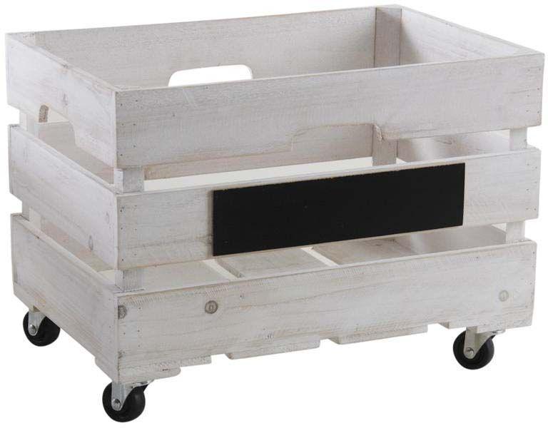 caisses de rangement en bois blanchi lot de 2. Black Bedroom Furniture Sets. Home Design Ideas