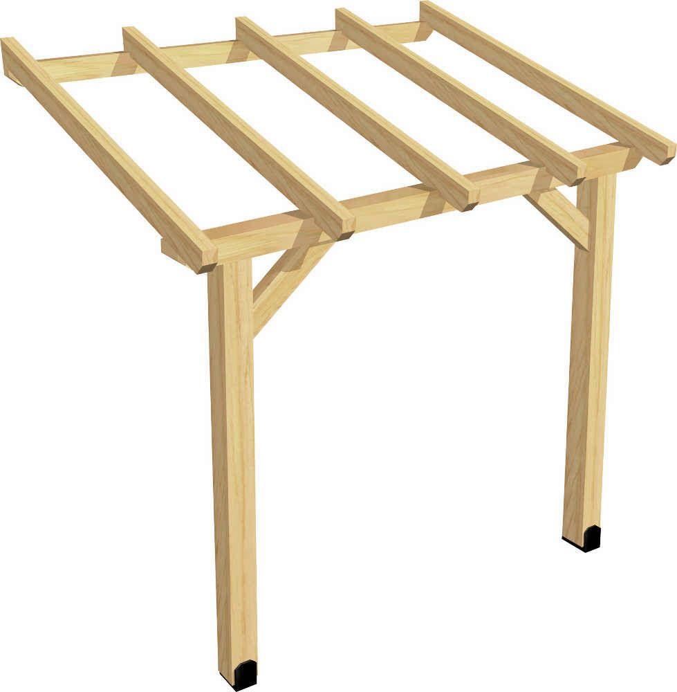 Carport abri b ches en pic a 200cm for Comfabriquer son abri bois
