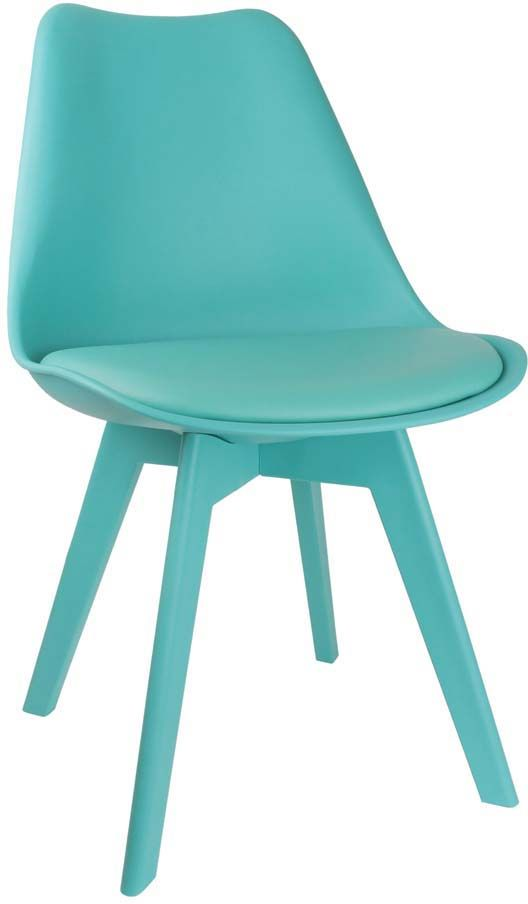 Chaise unicolore design bleu turquoise for Chaise bleu turquoise