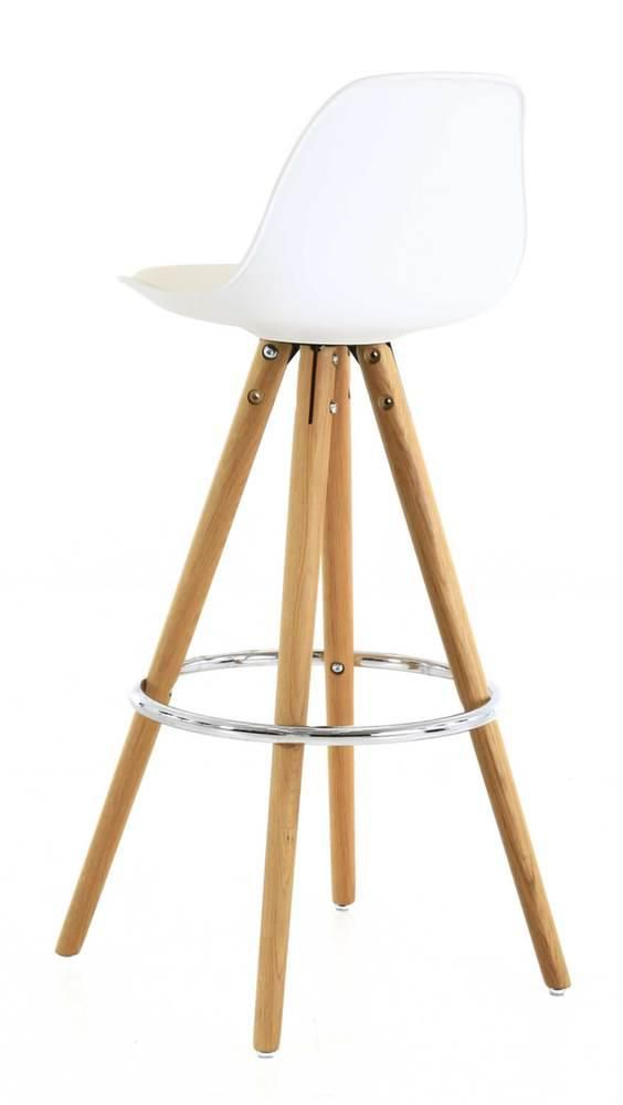 chaise de bar circus lot de 2 blanc. Black Bedroom Furniture Sets. Home Design Ideas