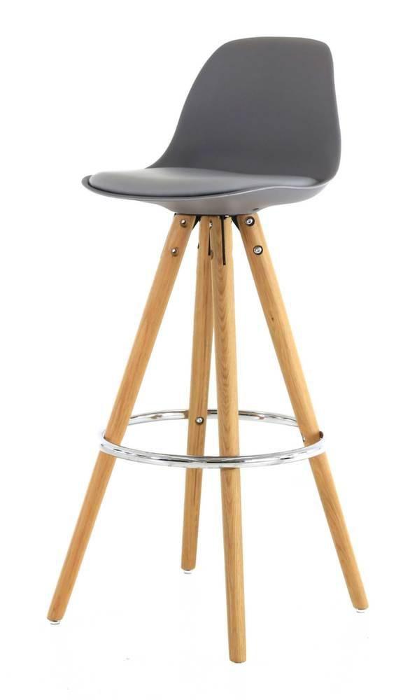 chaise de bar circus lot de 2 gris. Black Bedroom Furniture Sets. Home Design Ideas