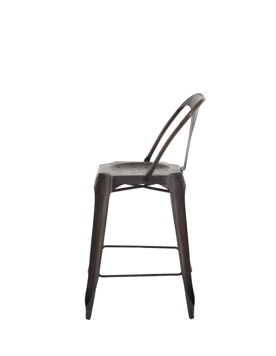 Chaise de bar Esprit industriel (Lot de 2)-5
