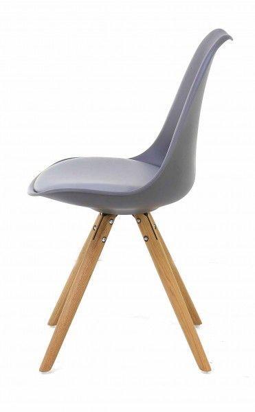 chaise design cross lot de 2 gris. Black Bedroom Furniture Sets. Home Design Ideas